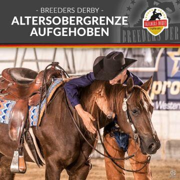 NRHA Germany: Altersobergrenze für Pferde auf dem Breeders Derby aufgehoben